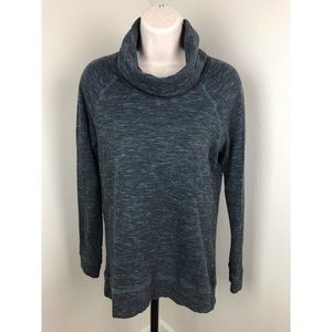 Lou & Grey Sweaters - Lou & Grey Green Cowl Neck Pullover Sweater